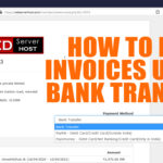 How to pay an invoice at RedServerHost using Bank Transfer