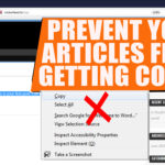 PREVENT COPYING FROM WEBPAGE