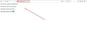 How to change mouse pointer on your webpage